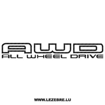 Sticker Karbon Subaru AWD - All Wheel Drive