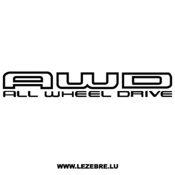 Subaru AWD - All Wheel Drive Decal