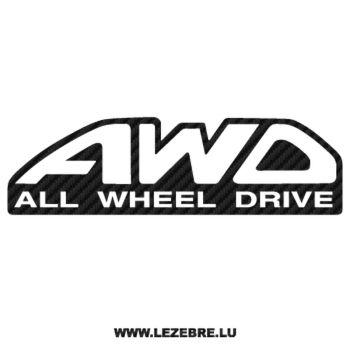 Sticker Karbon Subaru AWD - All Wheel Drive 2