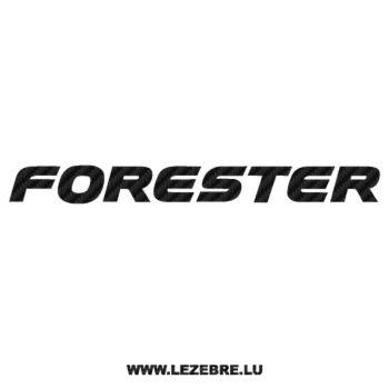 Sticker Karbon Subaru Forester