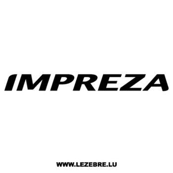 Sticker Subaru Impreza 2