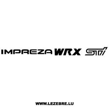 Sticker Subaru Impreza WRX STI