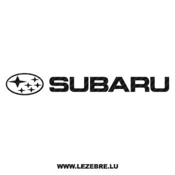 Sticker Karbon Subaru Logo 3
