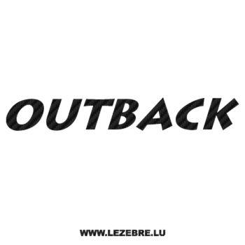 Sticker Karbon Subaru Outback Ancien