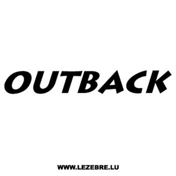 Sticker Subaru Outback Ancien