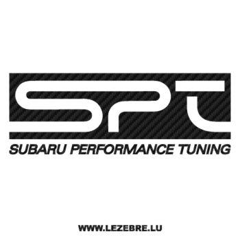 Sticker Karbon Subaru Performance Tuning SPT