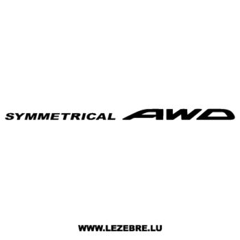 Subaru Symmetrical AWD Decal