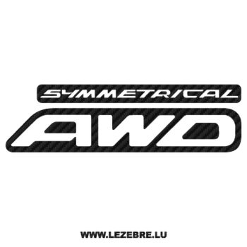Sticker Karbon Subaru Symmetrical AWD Ancien