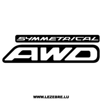 Sticker Subaru Symmetrical AWD Ancien