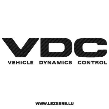 Sticker Karbon Subaru VDC - Vehicle Dynamics Control