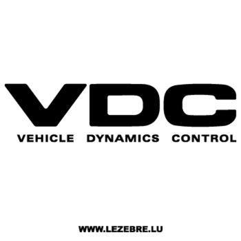 Sticker Subaru VDC - Vehicle Dynamics Control