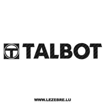 Talbot Logo Carbon Decal 2