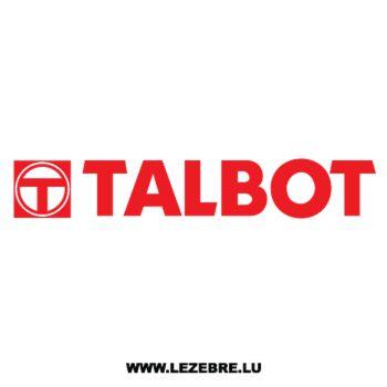 Talbot Logo Decal 2