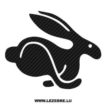 Sticker Karbon Volkswagen Rabbit Hase