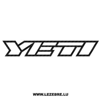 Sticker Carbone Yeti Logo