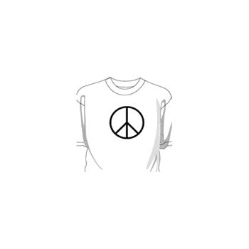 Sweat-Shirt Peace And Love Hippies