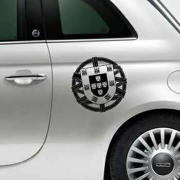Portugal Escudo Fiat 500 Decal