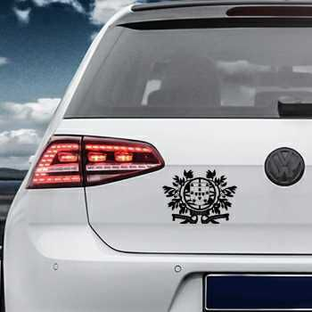 Portugal Escudo Volkswagen MK Golf Decal 2