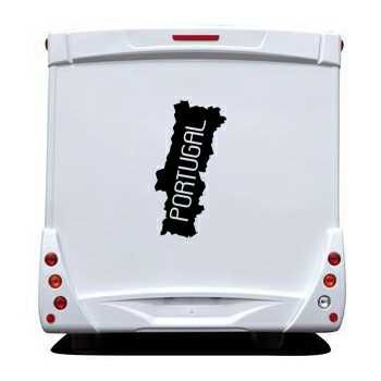 Portugal Continent Camping Car Decal