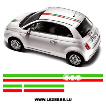 Italian strips Fiat 500 decal set