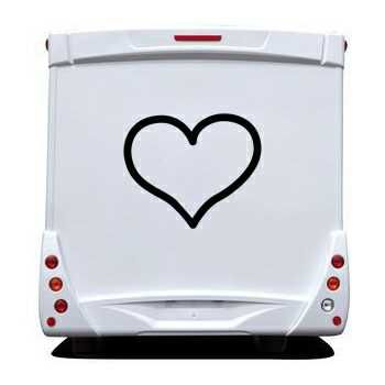 Sticker Camping Car Coeur