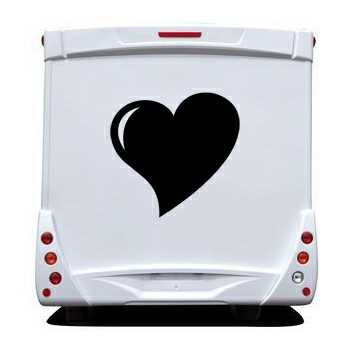 Sticker Camping Car Coeur Déco 4