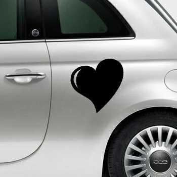Heart Fiat 500 Decal 4