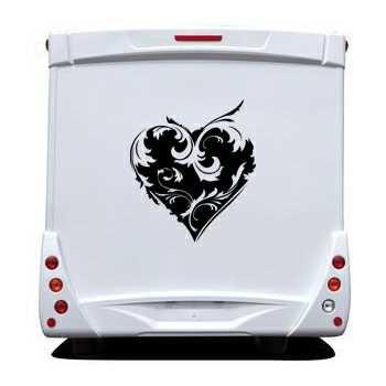Sticker Camping Car Coeur Déco 2
