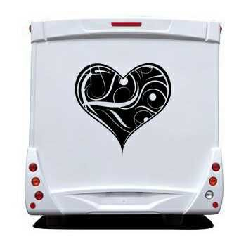 Sticker Camping Car Coeur Déco 5
