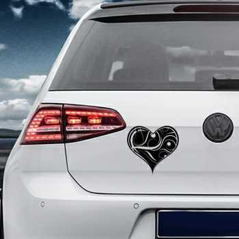 Heart Volkswagen MK Golf Decal 5