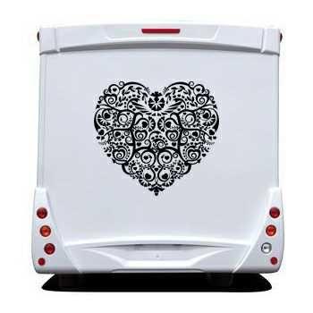 Sticker Camping Car Coeur Déco 3