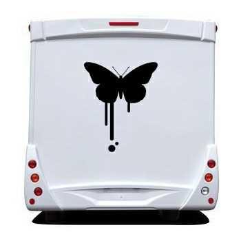 Sticker Camping Car Déco Papillon 67