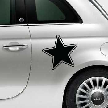 Sticker Fiat 500 Deko Stern 10