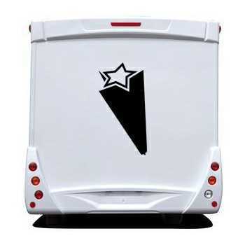 Star 3D Effect Camping Car Decal