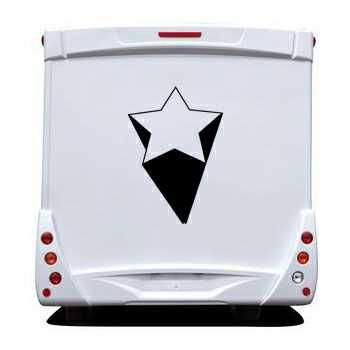 Star 3D Effect Camping Car Decal 2