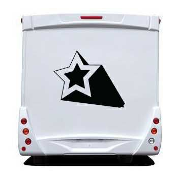 Star 3D Effect Camping Car Decal 3