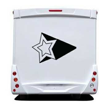 Star 3D Effect Camping Car Decal 4