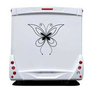 Butterfly Camping Car Decal 68