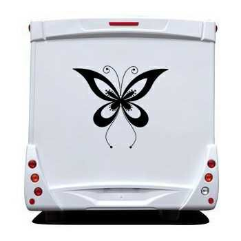 Butterfly Camping Car Decal 69