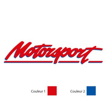 Sticker Motorsport Logo - 2 Couleurs
