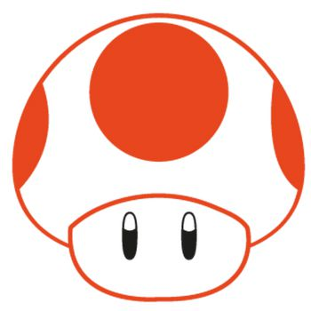 Sticker Toad Mario 2 Couleurs