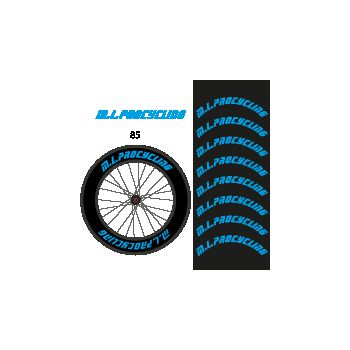 Kit de 8 Stickers jantes M.L.procycling - 85 mm ok