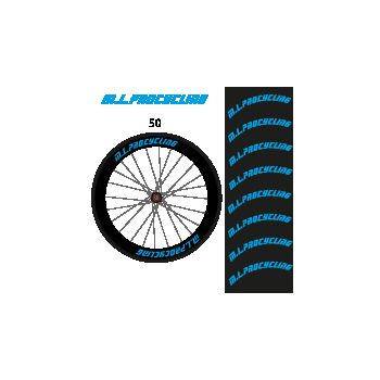 Kit de 8 Stickers jantes M.L.procycling - 50 mm ok
