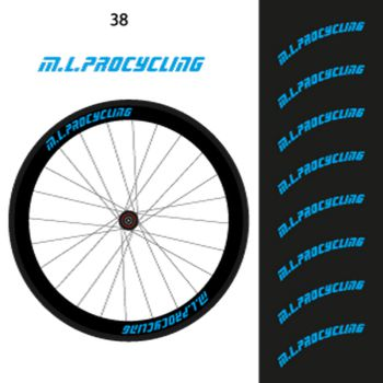 Kit de 8 Stickers jantes M.L.procycling - 38mm ok