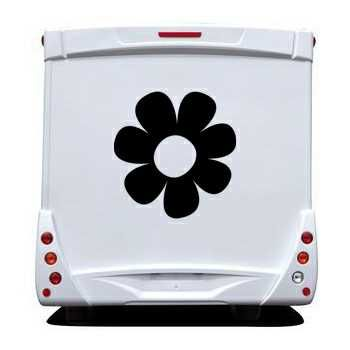 Flower Camping Car Decal 4