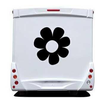 Sticker Camping Car Fleur Déco 4
