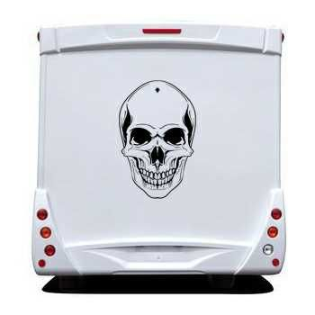 Skull Camping Car Decal 5