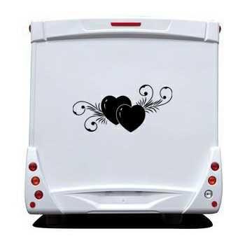 Sticker Camping Car Coeur Déco 6
