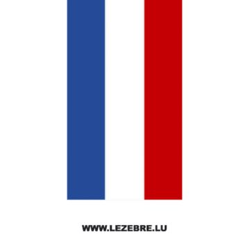 French flag strip decal