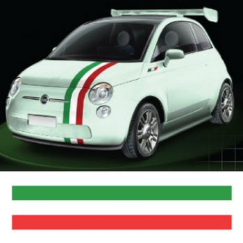 Italian flag strip decal